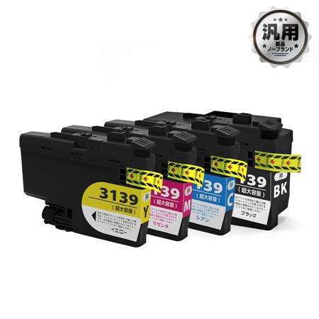 インクカートリッジ LC3139(K/C/M/Y)汎用品(新品・ノーブランド)<4色入>