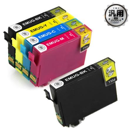【数量限定】インクカートリッジ マグカップ MUG-4CL 4色パック+MUG-BK 汎用品(新品・ノーブランド)<5個入>