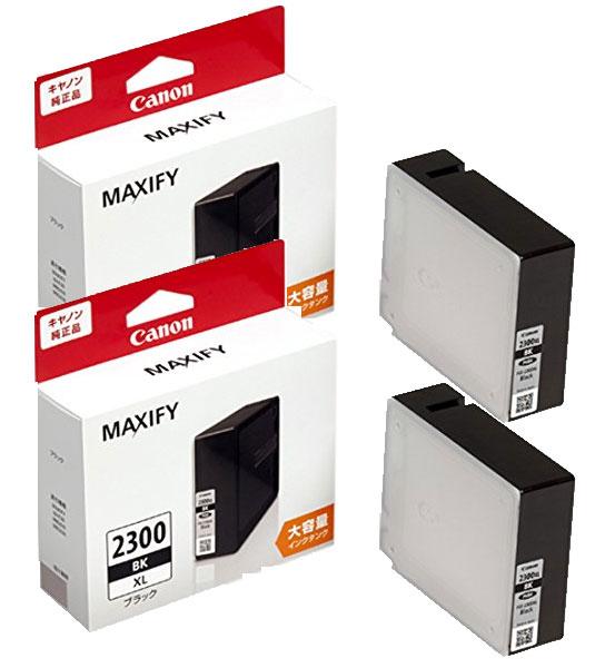 Canon インクタンク PGI-2300XLBK(大容量)ブラック 純正<2個入>