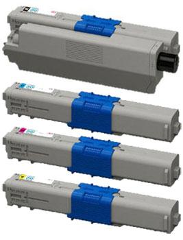 大容量トナーカートリッジ TNR-C4K (K、C、M、Y) 2 リサイクル<4色入>