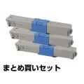 沖データ OKI TC-C4AY1/C1/M1トナーカートリッジ カラー3色/シアン/マゼンタ/イエロー 純正 MC363dnw C332dnw 用トナー