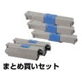 沖データ OKI TC-C4AK1/C1/M1/Y1トナーカートリッジ 4色/ブラック黒2本/シアン/マゼンタ/イエロー 純正 MC363dnw C332dnw 用トナー