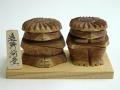 木彫り河童【えんじゅ】(小)めおとセット1