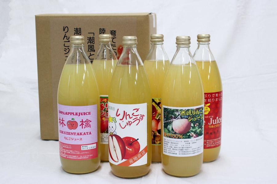 潮風りんごジュースギフト(1ℓ×6本セット)【送料込み】