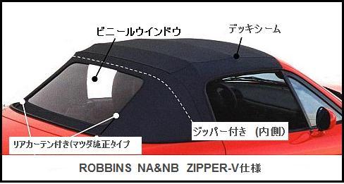 12【RCビニール幌 :Zipper-VV仕様/ ビニール窓 】 for NA/NB ロードスター