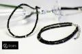 高品質ブラックスピネルネックレスor2連ブレスレット<男性サイズ選択可>
