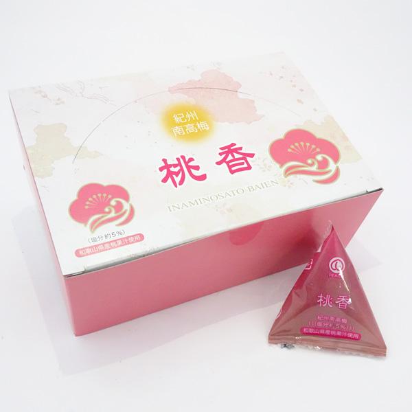 【いなみの里梅園】紀州南高梅 桃香(12粒入) 桃果汁入り梅干・塩分5%
