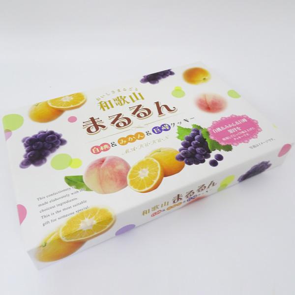 山崎梅栄堂 美味しさまるごと!和歌山まるるん 白桃&みかん&巨峰クッキー(18枚入)