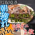 鳥取境港朝獲れ松葉ガニ脚折れご自宅用2枚(ズワイガニ 送料無料 クール便 冷蔵)