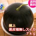 鳥取産極上黒皮種無しスイカ 2L 1玉 (送料無料 お中元)