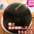 鳥取産極上黒皮種無しスイカ 3L 2玉 (送料無料 お中元)