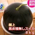 鳥取産極上黒皮種無しスイカ 3L 1玉 (送料無料 お中元)