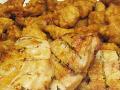 【送料無料】メガ盛り!唐揚げ&ローストチキン(むね肉唐揚げ1.0kg+むね肉ロースト3枚入)(roast chicken)【から揚げ】【ロースト】【お得セット】