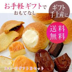 【送料無料】お手頃スイーツギフトBセット バースデープレゼント  チーズケーキ・シュークリーム