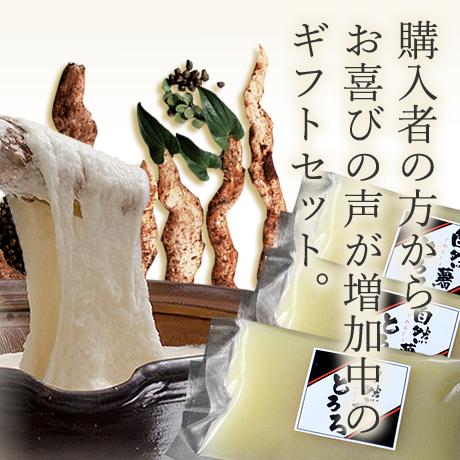 自然薯とろろギフトセット (醤油味 60g × 5個入り)