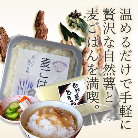 麦とろセット1人前 (麦ごはん 125g×1個入り 醤油味 60g×1個入り)