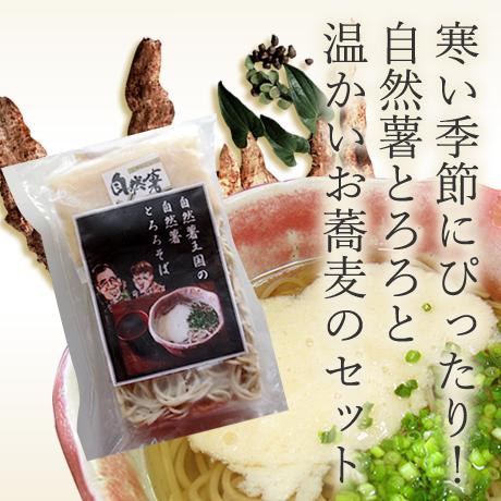 自然薯とろろそば【温】(冷凍ゆでそば 1玉 200g / 自然薯とろろ 45g×1個 / 麺つゆ 1袋 50g)