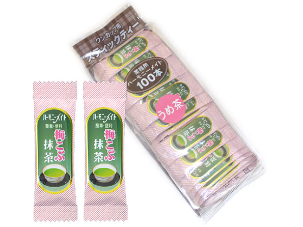 ハーモニーメイト 梅こぶ抹茶 100本