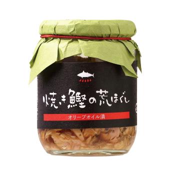 【鰹のお惣菜】 焼きかつお荒ほぐし(オリーブオイル浸け)