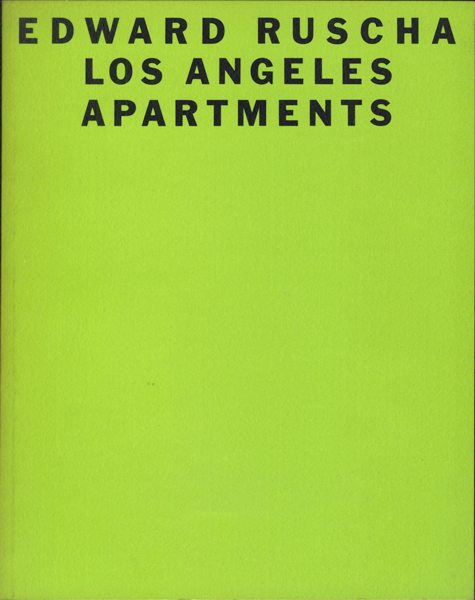 Edward Ruscha: Los Angeles Apartments