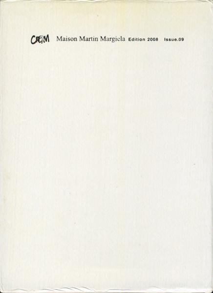 Cream 9: Maison Martin Margiela Edition 2008