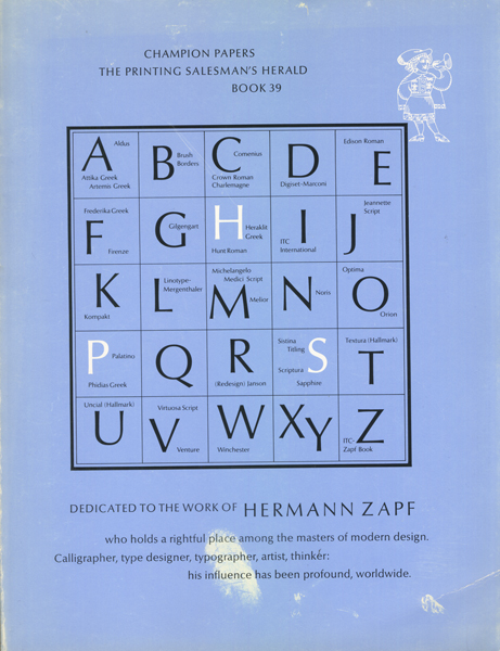 CHAMPION PAPERS Special Issue on the Work of HERMANN ZAPF