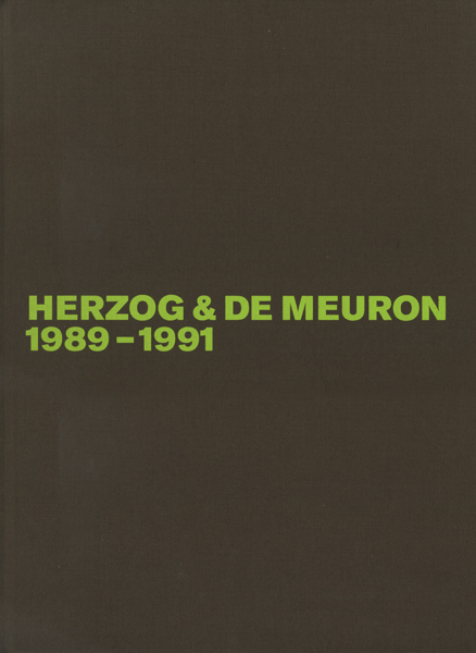 HERZOG & DE MEURON: The Complete Works 各巻