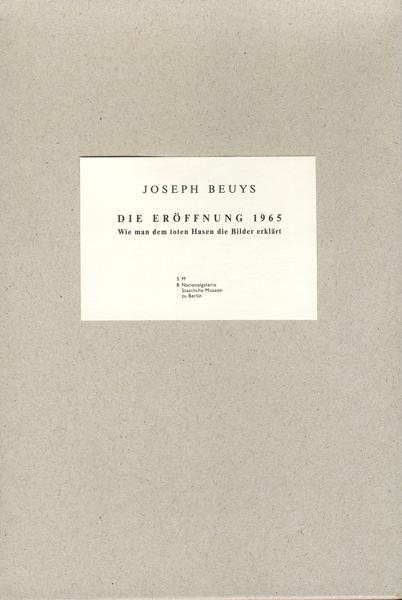 Joseph Beuys: Die Eroffnung 1965,irgendein Strang,Wie man dem toten Hasen die Bilder erklärt