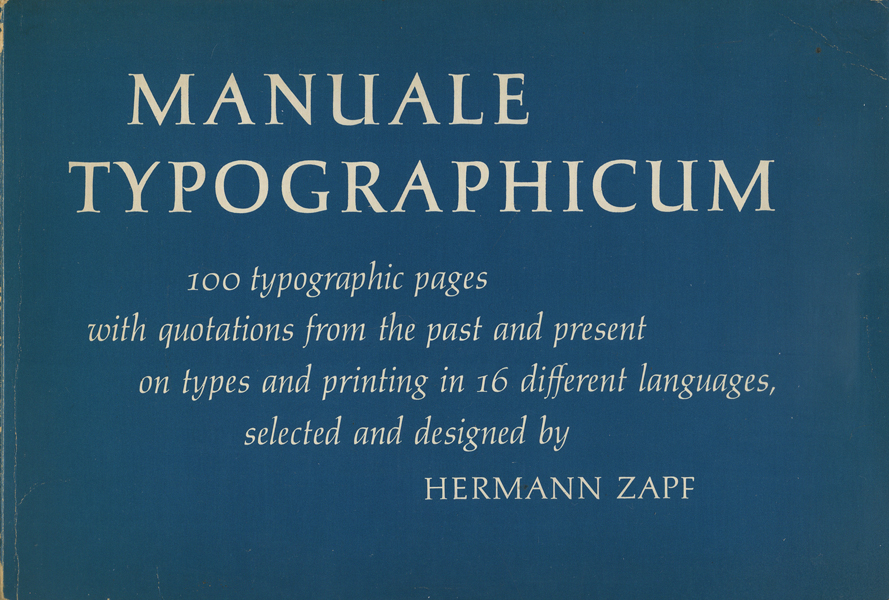 Manuale Typographicum : Hermann Zapf