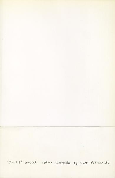 '2000-1' Maison Martin Margiela by Mark Borthwick
