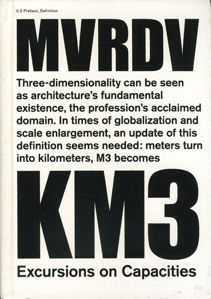MVRDV: Km3: Excursions on Capacity