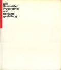 Willi Baumeister : Typographie und Reklamegestaltung