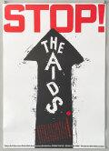 """松永真ポスター Tokyo Art Directors Club 40th Anniversary Exhibiton: FROM TOKYO """"STOP! THE AIDS"""" 1993"""