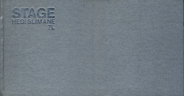 Hedi Slimane: STAGE