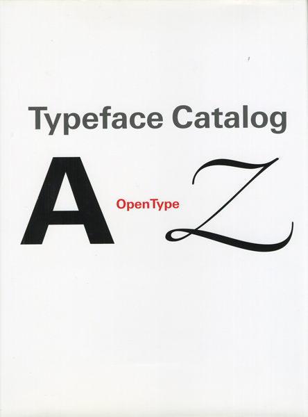 Typeface Catalog A to Z Opentype