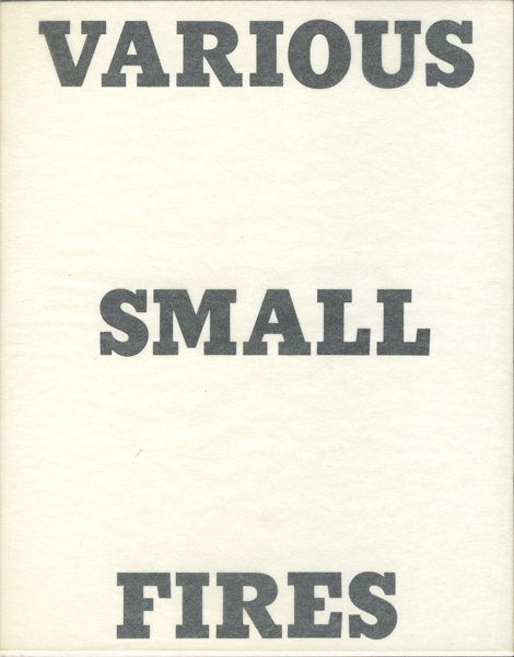 Edward Ruscha: Various Small Fires and Milk