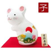 干支 子 ねずみ 鼠 ネズミ 2020 令和2年 正月飾り リュウコドウ ちりめん 可愛い 富士山
