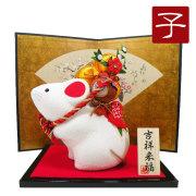 干支 子 ねずみ 鼠 ネズミ 2020 令和2年 正月飾り リュウコドウ ちりめん 可愛い 大きめ