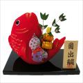 正月飾り 「縁起 はね鯛」 龍虎堂 リュウコドウ ちりめん細工  正月飾り 日本製