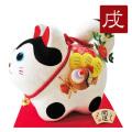 置物 干支 戌 イヌ 犬 2018 平成30年 正月飾り リュウコドウ ちりめん 可愛い