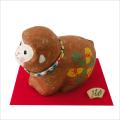 干支・申年 「ちぎり和紙 六瓢箪申 (大)」 龍虎堂 ちりめん  正月飾り 日本製