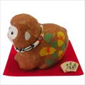 干支・申年 「ちぎり和紙 六瓢箪申 (小)」 龍虎堂 ちりめん  正月飾り 日本製