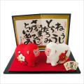 干支・申年 「紅白申 (大)」 龍虎堂 ちりめん  正月飾り 日本製