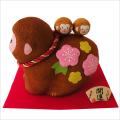 干支・申年 「ちりめん 親子申 」 龍虎堂 ちりめん  正月飾り 日本製 置物