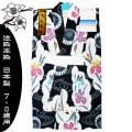【本染注染】こども浴衣 「あやめ」 紺地 日本製 女児120センチ 7・8歳用