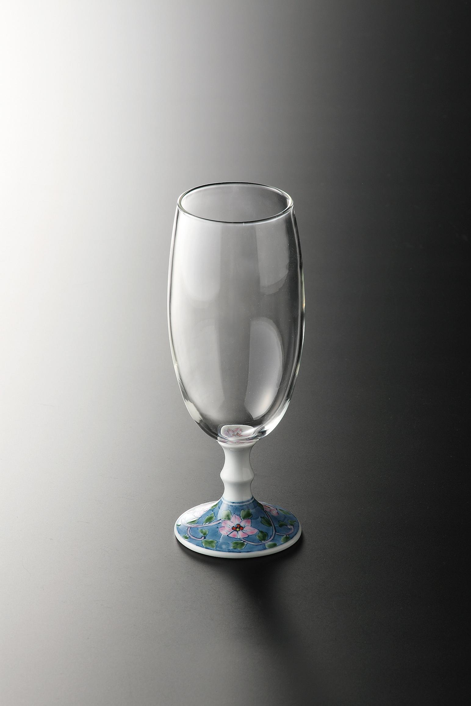 有田浪漫ビールグラス (鉄仙唐草)