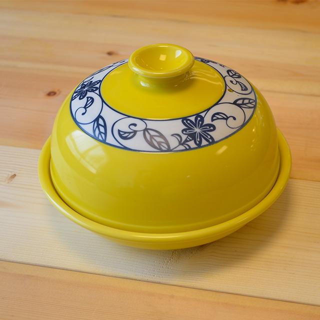 レンジ専用ドーム型タジン鍋(黄花かれん)