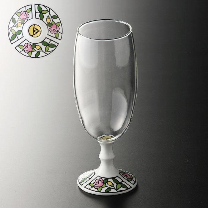 有田浪漫ビールグラス ビートロ(薔薇)