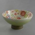 肥前花の舞茶碗 トロピカル(グリーン吹き)