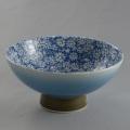 肥前花の舞茶碗 青小菊(ブルー吹き)